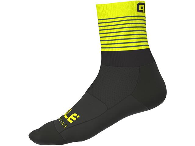 Alé Cycling Piuma Strømper Herrer, black/fluo yellow